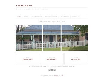 Image of Kerrowgair Website Homepage - Bed and Breakfast, Special Occassions - Yass, NSW at Your Web Presence Website