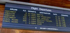 Image of the Old School Departure Board at Honolulu Airport